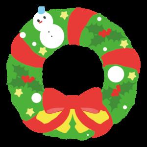 クリスマスリーフのかわいいイラスト
