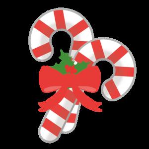 クリスマスキャンディ イラスト、リボン