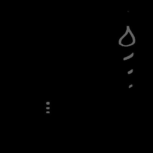 クリスマスココア イラスト 白黒