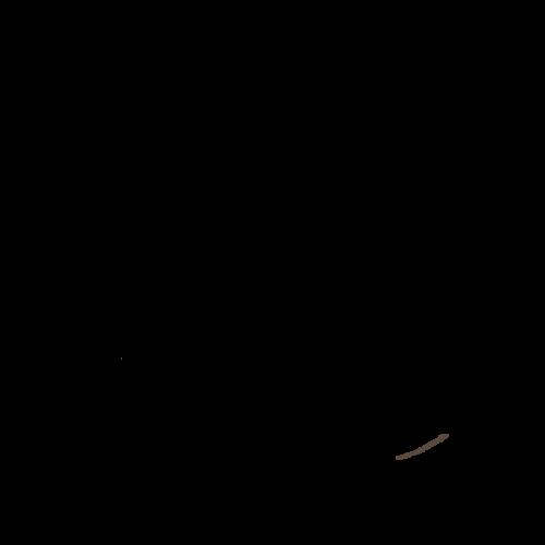 クリスマスチキン イラスト モノクロ 白黒