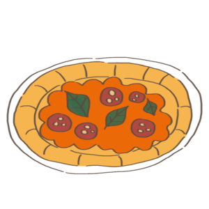 ピザのかわいいイラスト