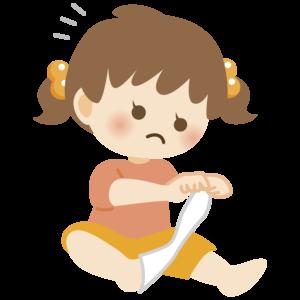 靴下を脱ぐ子供のイラスト 女の子 かわいい