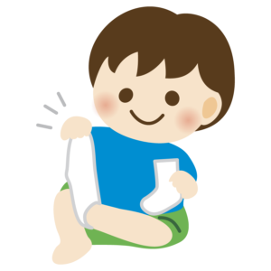 靴下を脱ぐ子供のイラスト 男の子 かわいい