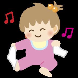 靴下を脱ぐ赤ちゃんのイラスト かわいい 女の子