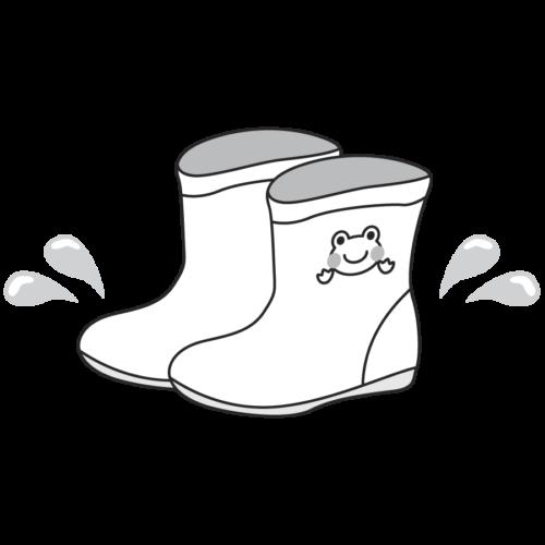子供の長靴のイラスト。カエル