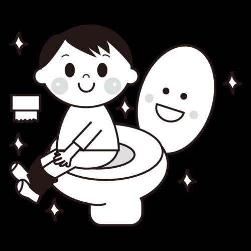 トイレ イラスト 保育園 モノクロ 白黒
