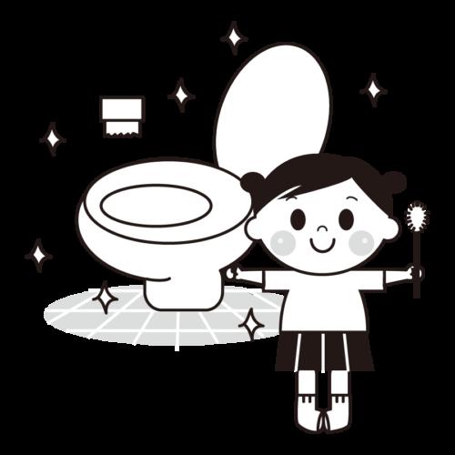 トイレ 掃除 イラスト