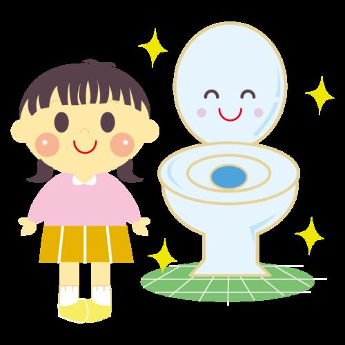 トイレ きれいに使う イラスト