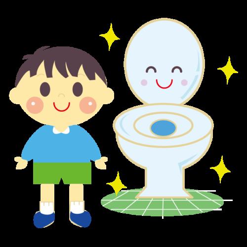 トイレ きれいに使う イラスト 子供