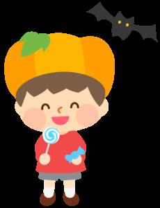 ハロウィン かぼちゃ 帽子 イラスト