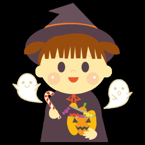 ハロウィン 魔女 イラスト かわいい