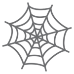 クモの巣 イラスト かわいい