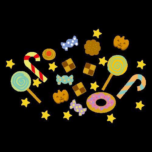 ハロウィン お菓子 イラスト かわいい