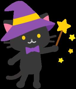 魔法使い 猫 イラスト