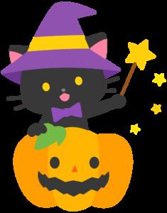 ハロウィン 猫 イラスト かわいい