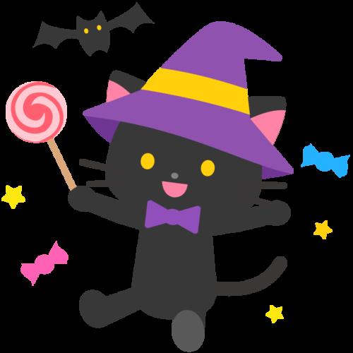 魔女 猫 イラスト かわいい