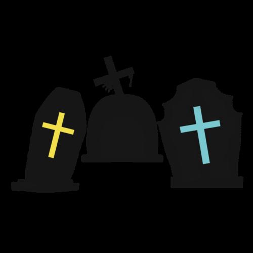 墓場 イラスト かわいい 墓地