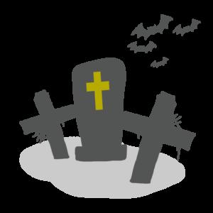 ハロウィン 墓地 イラスト