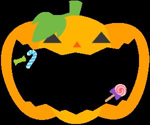 かぼちゃ 枠 イラスト 背景 フレーム