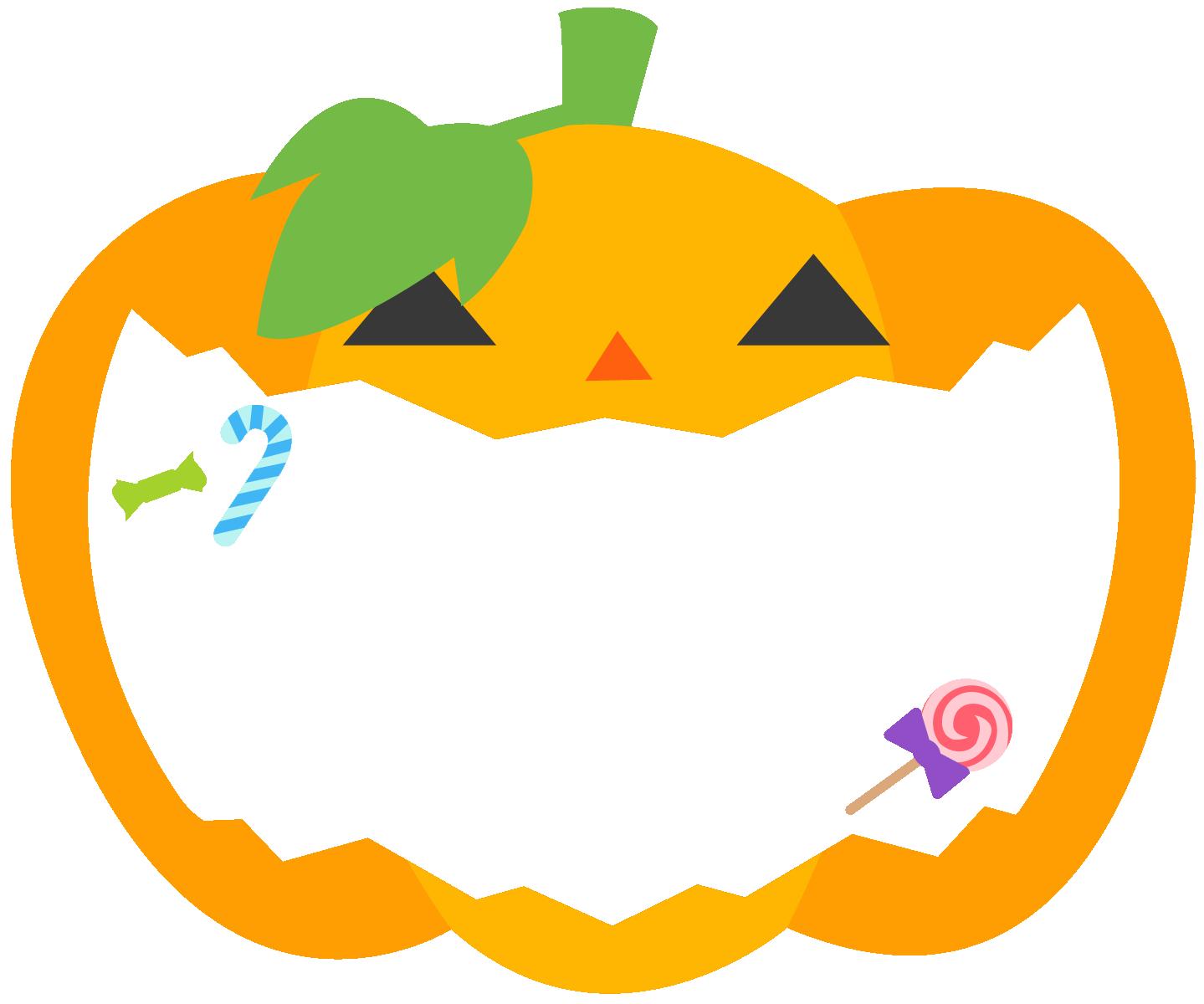 かぼちゃの背景枠フレームイラスト
