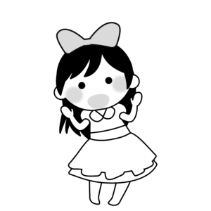 生活発表会 イラスト モノクロ 白黒 保育園 幼稚園 女の子