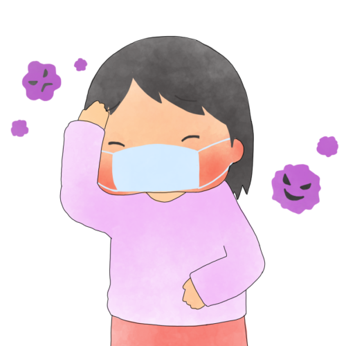 インフルエンザ 感染 イラスト