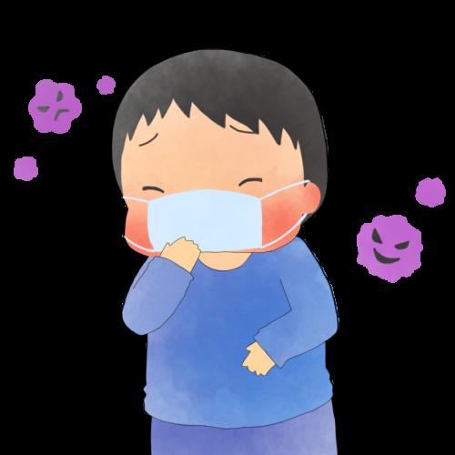 インフルエンザ 子供 イラスト かわいい