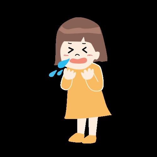 くしゃみ 鼻水 イラスト かわいい