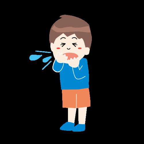 咳 くしゃみ イラスト