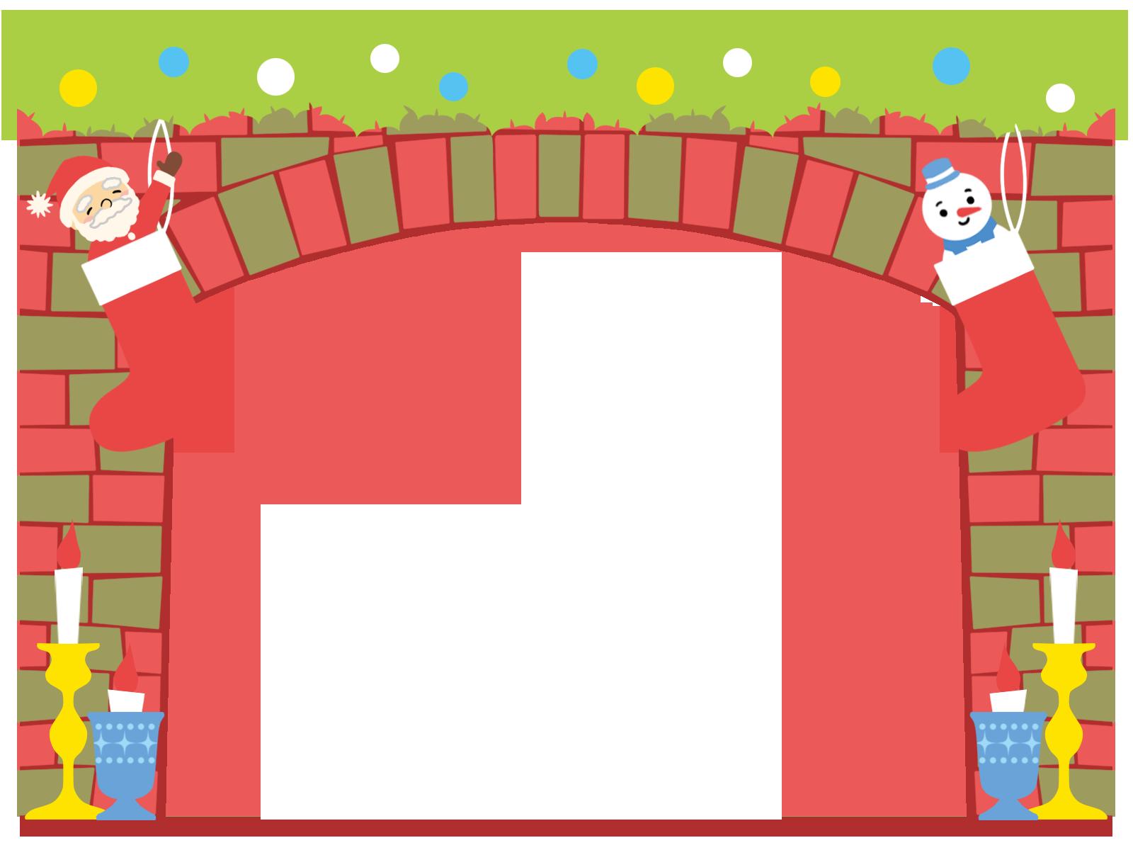 クリスマスの枠イラスト(無料、フリー)