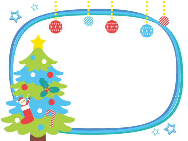 クリスマス 枠 イラスト 無料