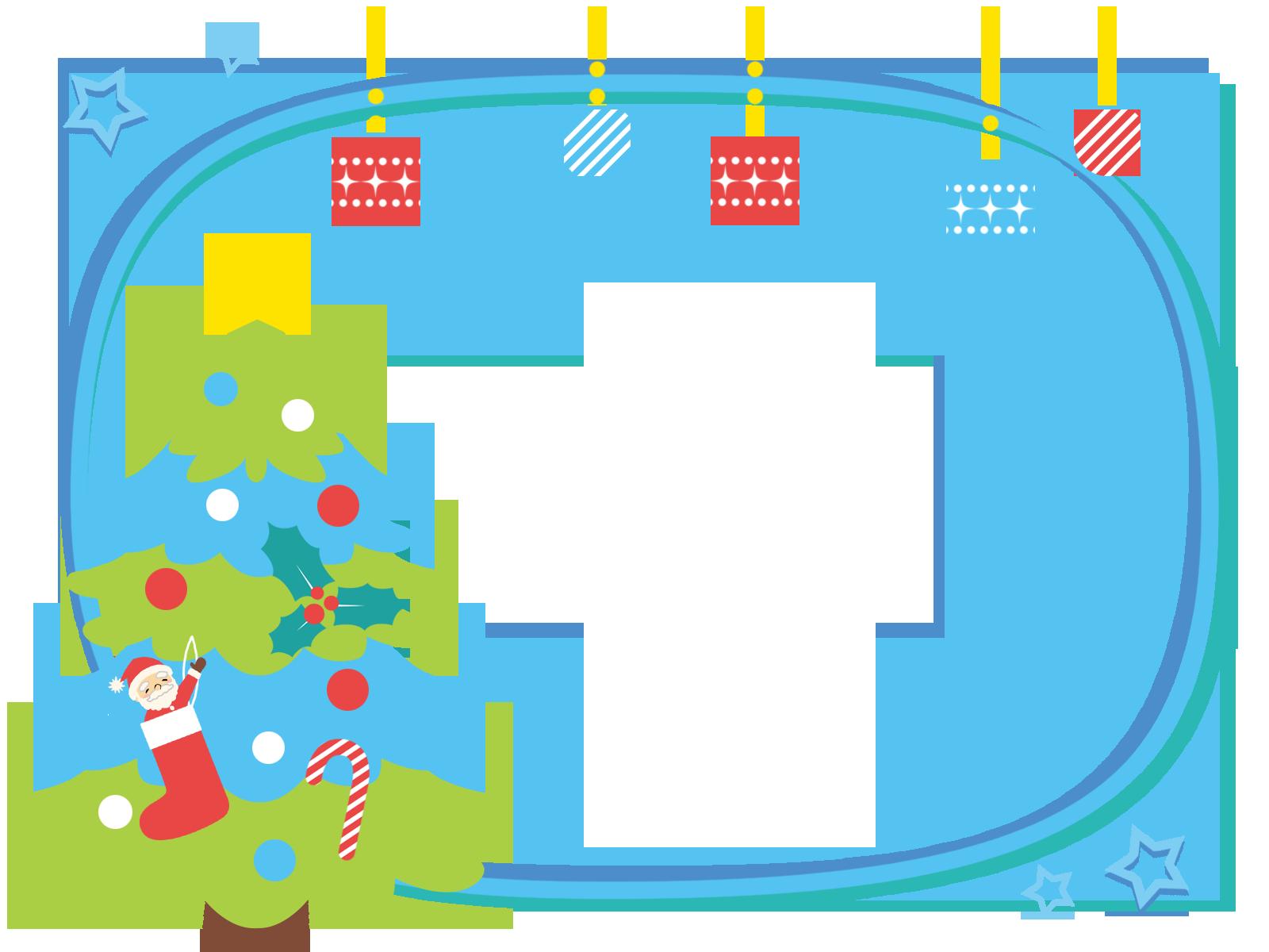 クリスマスのフレーム背景枠イラスト画像素材(フリー、無料)