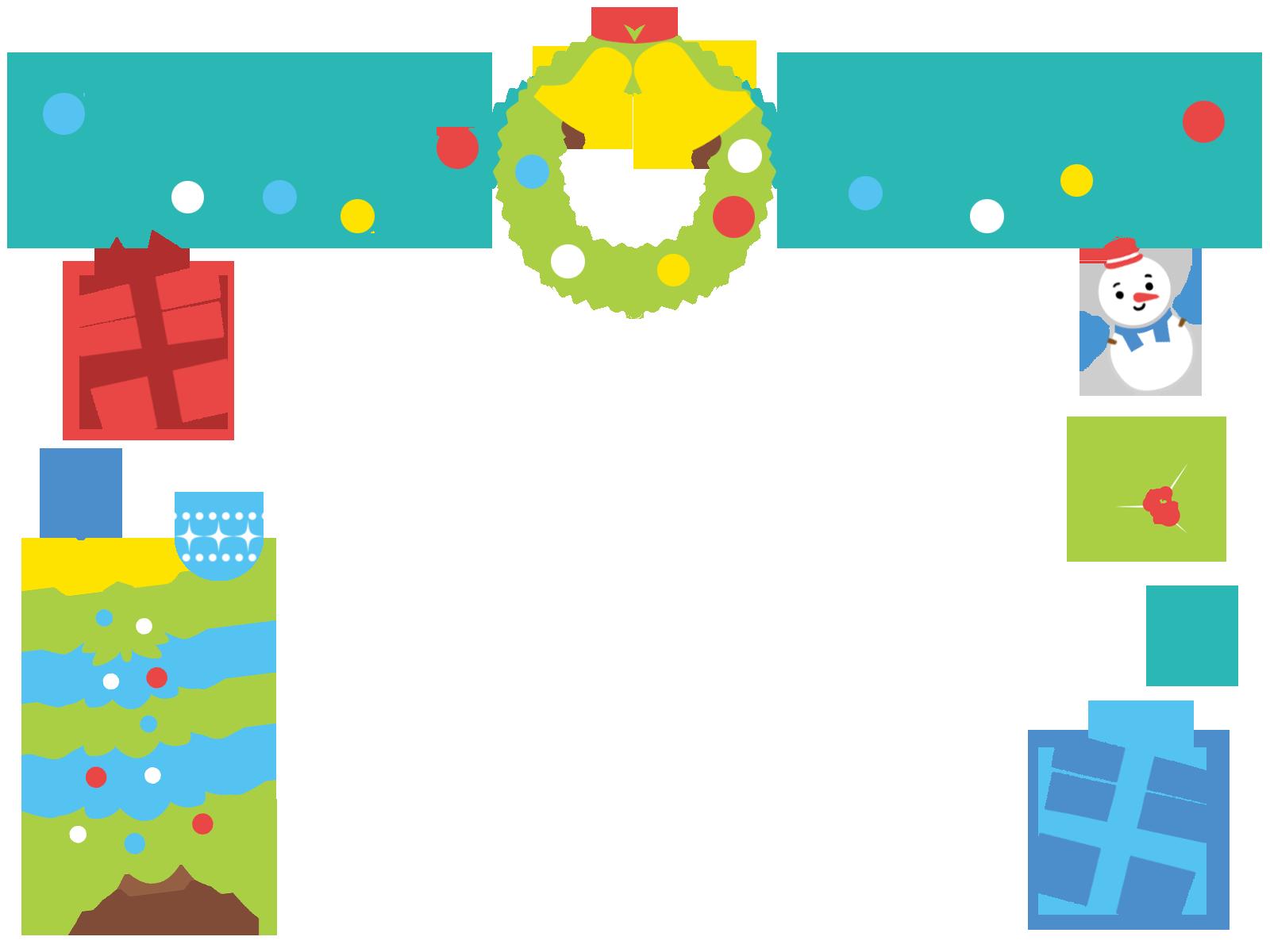 クリスマスのフレーム枠イラスト画像素材(無料、フリー)