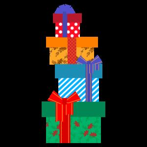クリスマスプレゼントのかわいいイラスト、オシャレ