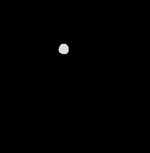 積み木で遊ぶ子供のかわいいイラスト モノクロ、白黒