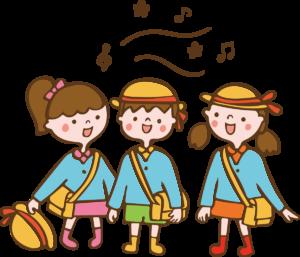 帰りの会で歌を歌う子供のイラスト 保育園 幼稚園 女の子 男の子 音楽
