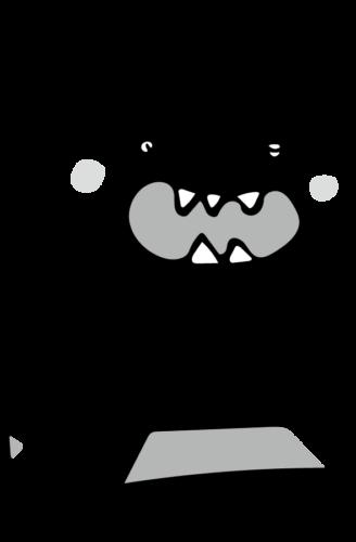 ばい菌 イラスト 白黒 モノクロ