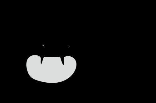 ウイルス イラスト 白黒