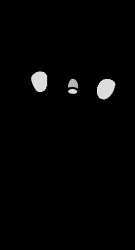 息苦しい イラスト 白黒