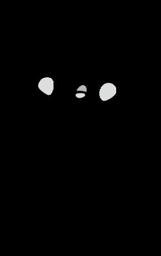 動悸 イラスト 白黒 モノクロ