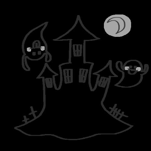 おばけ 城 イラスト