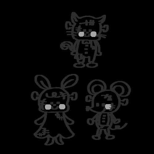ハロウィン ゾンビ イラスト 白黒 モノクロ