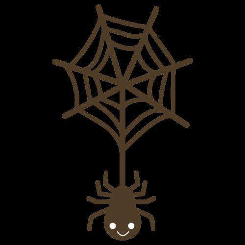ハロウィン 蜘蛛 イラスト かわいい