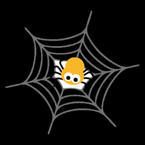 蜘蛛 蜘蛛の巣 イラスト