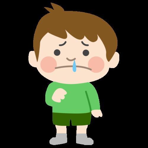 鼻水 子供 イラスト かわいい