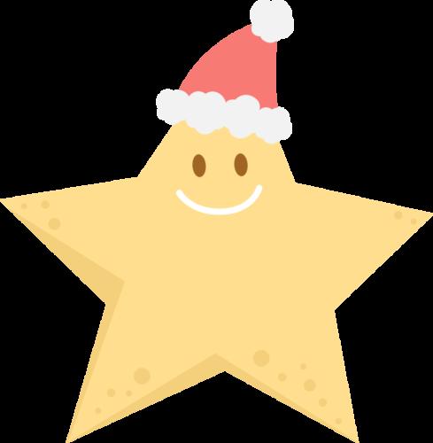 クリスマス 星 イラスト かわいい