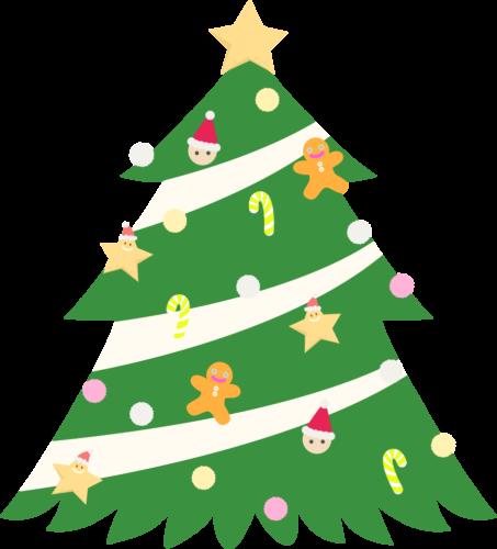 クリスマスツリー 星 イラスト