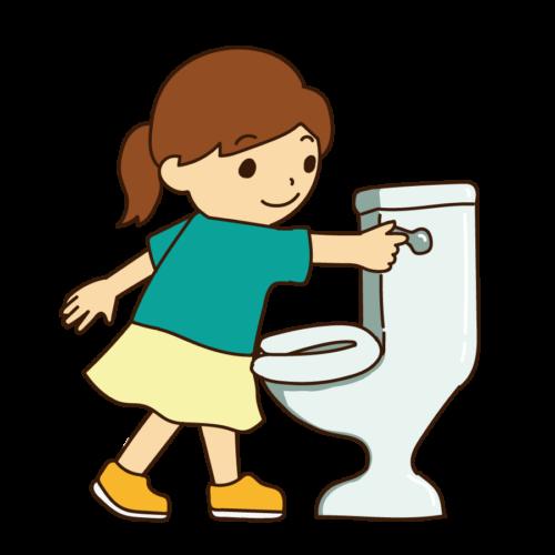 トイレ 水 流す イラスト 無料 フリー
