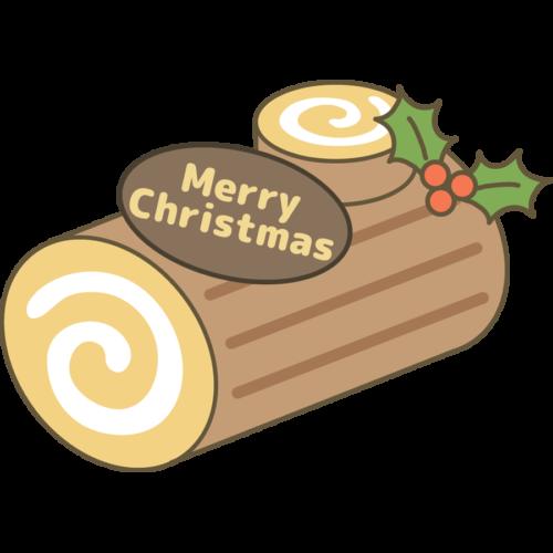 クリスマス ロールケーキ イラスト かわいい