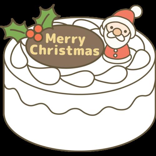 クリスマスケーキ イラスト かわいい